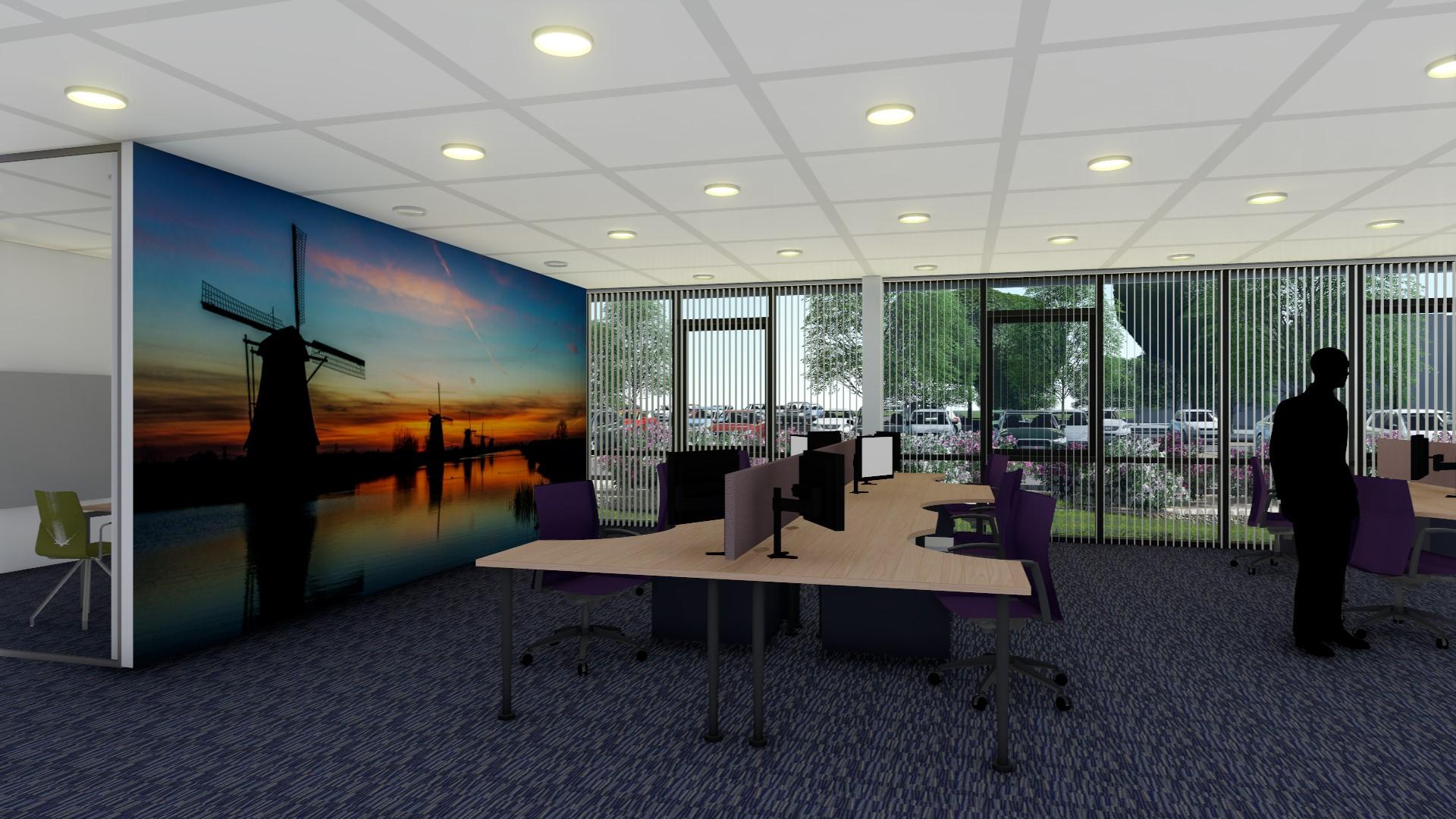 Nieuwbouwproject kantoor marel boxmeer for Kantoor interieur
